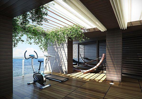 Open Terrace Home Gym Gym Room At Home Home Gym Design Gym Design