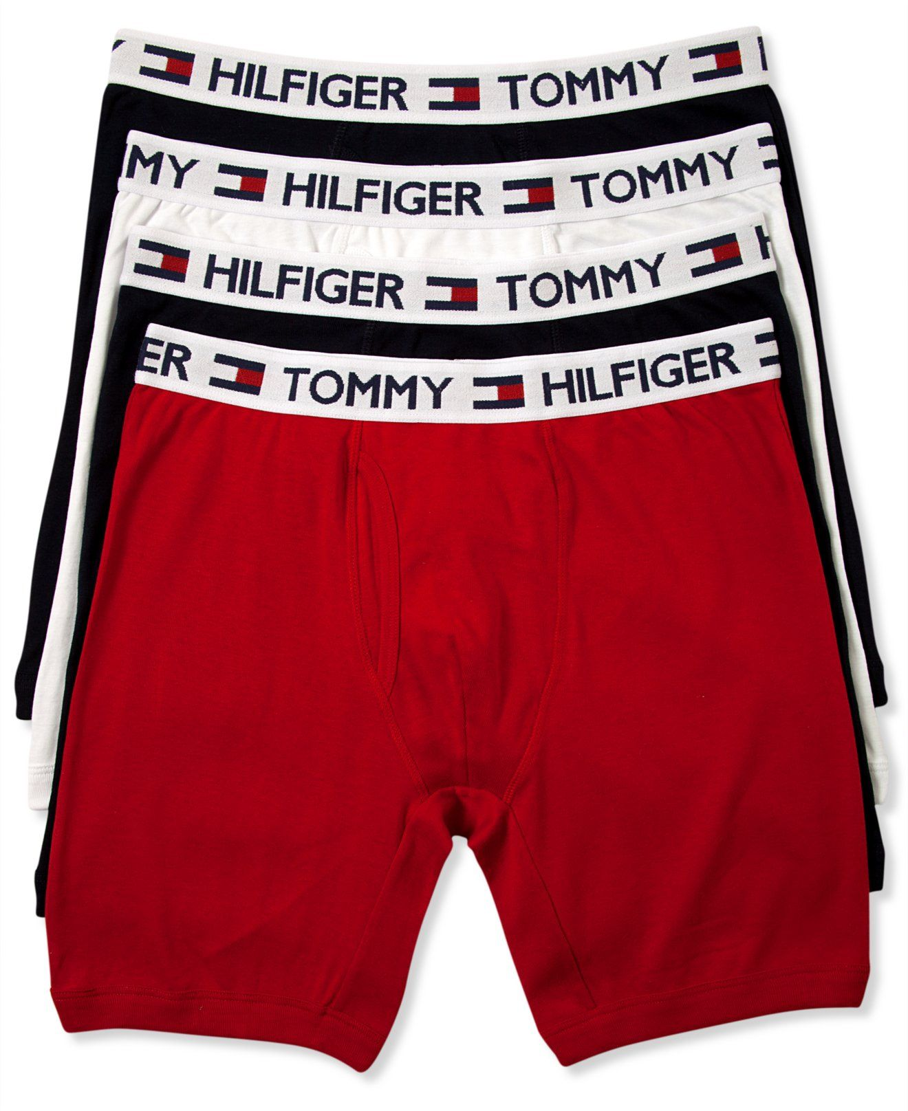 210bbdc9716f Tommy Hilfiger Men's Underwear, Athletic Boxer Brief 4-Pack - Underwear -  Men - Macy's 32.00