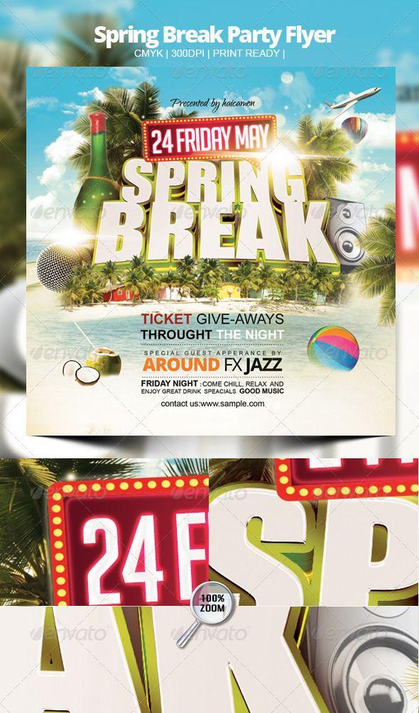 Spring Break Party Flyer – Spring Party Flyer