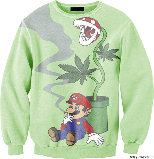 sexy sweaters tumblr. mario. #420 #weed