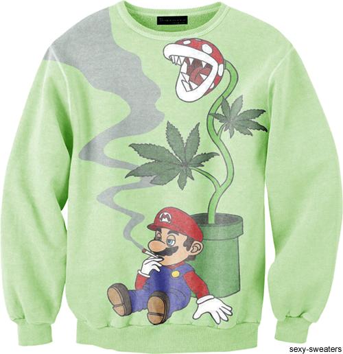 sexy sweaters tumblr. mario. #420 #weed