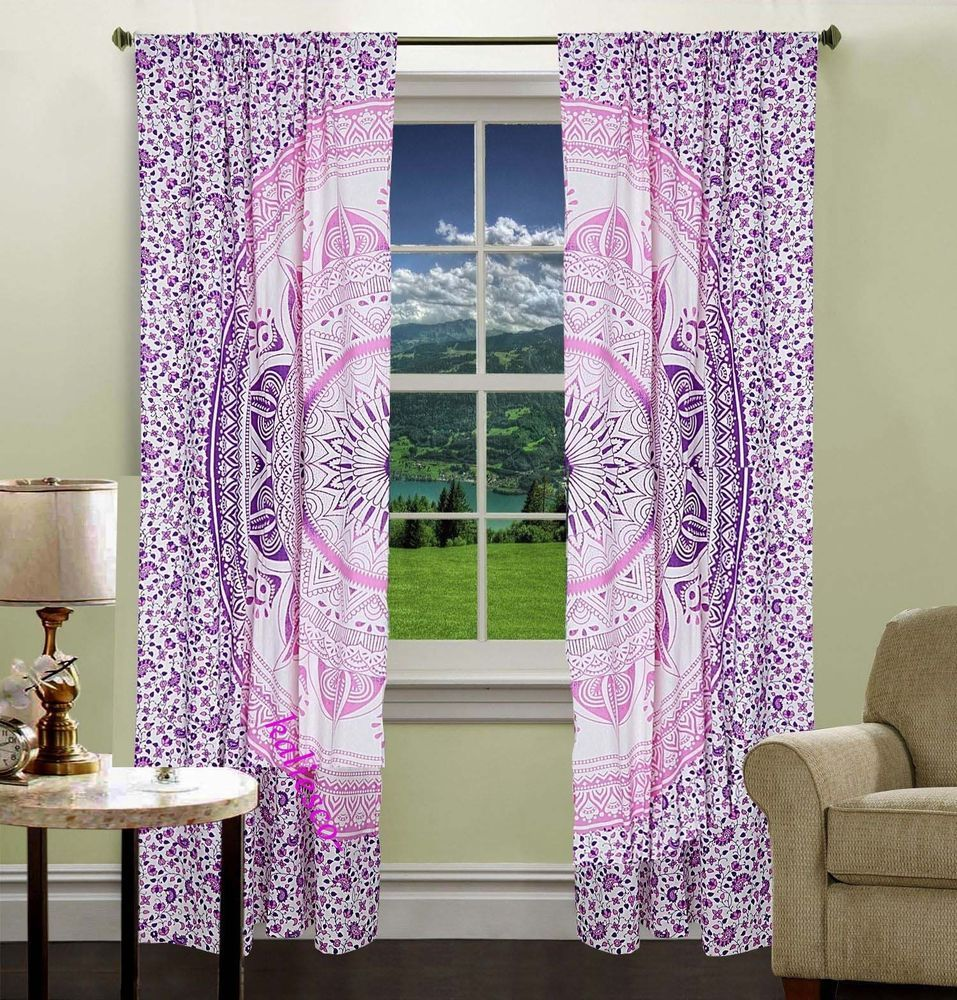 Boho window curtains - Bedroom Window Curtains
