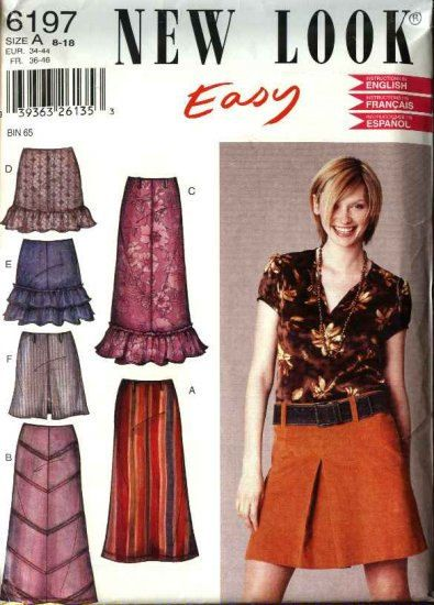 Simplicity New Look 6197 Skirt with Ruffle or by ModernStitchery