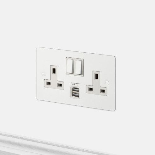 2g Uk Plug Socket Usb White Plug Sockets Electricity Plug Socket Sockets Light Switches And Sockets