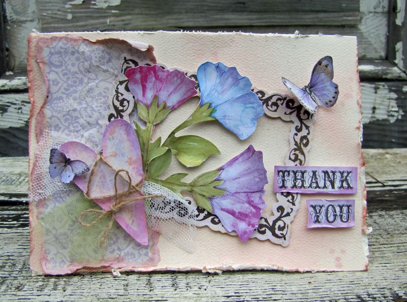 """""""thank you"""" card created using the beautiful you"""
