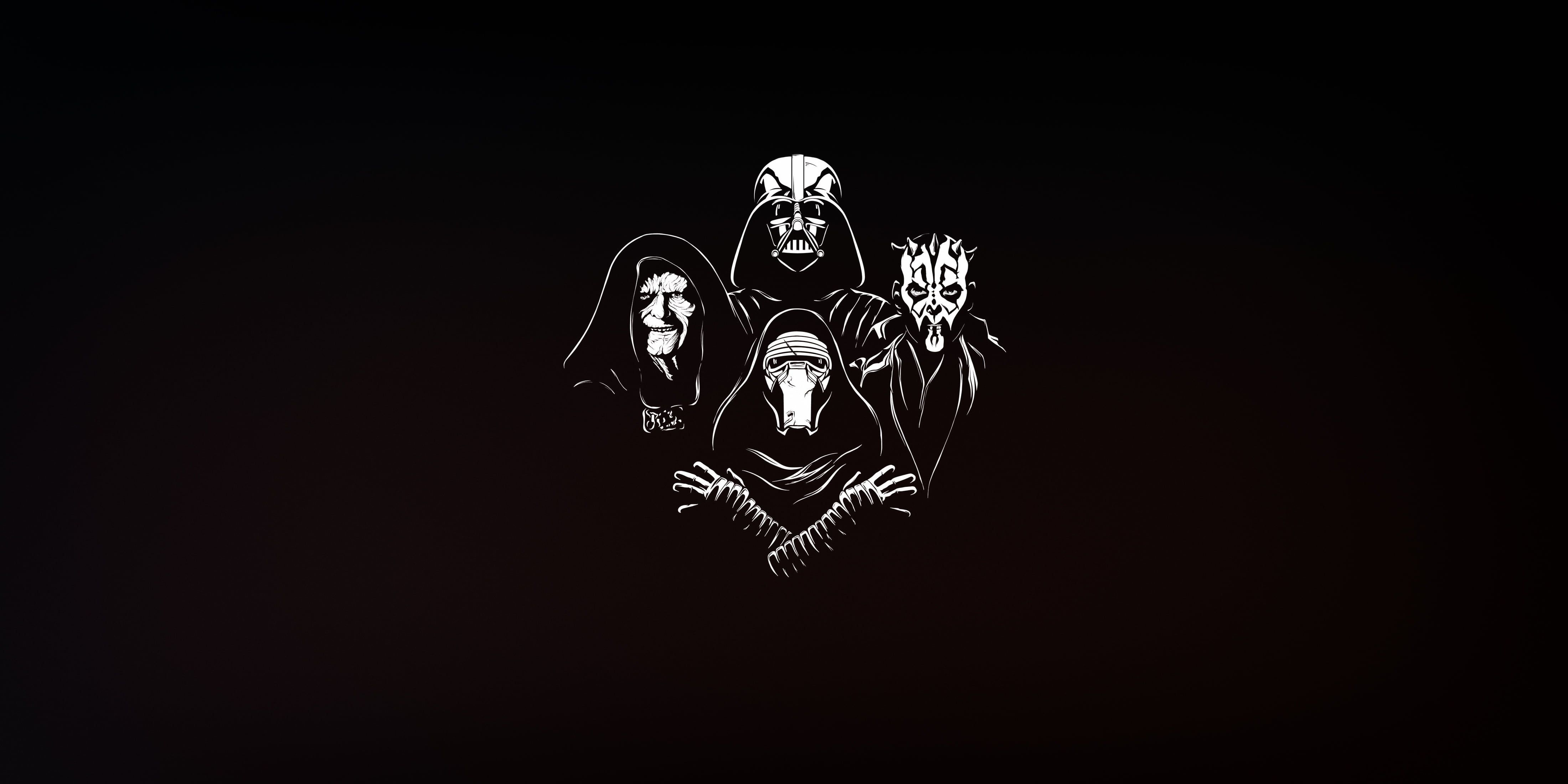 Minimalism Sith Star Wars Artwork Simple Background Darth Maul Emperor Palpatine Darth Vader Kylo Star Wars Artwork Star Wars Background Simple Backgrounds