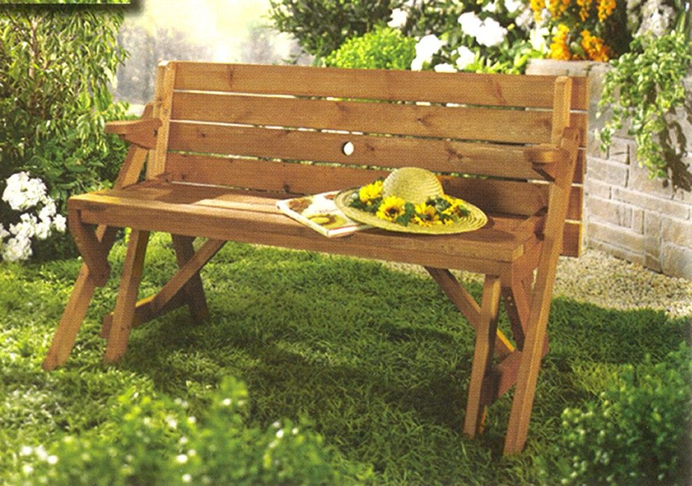 Brilliant Interchangeable Picnic Table Garden Bench Patio Gmtry Best Dining Table And Chair Ideas Images Gmtryco