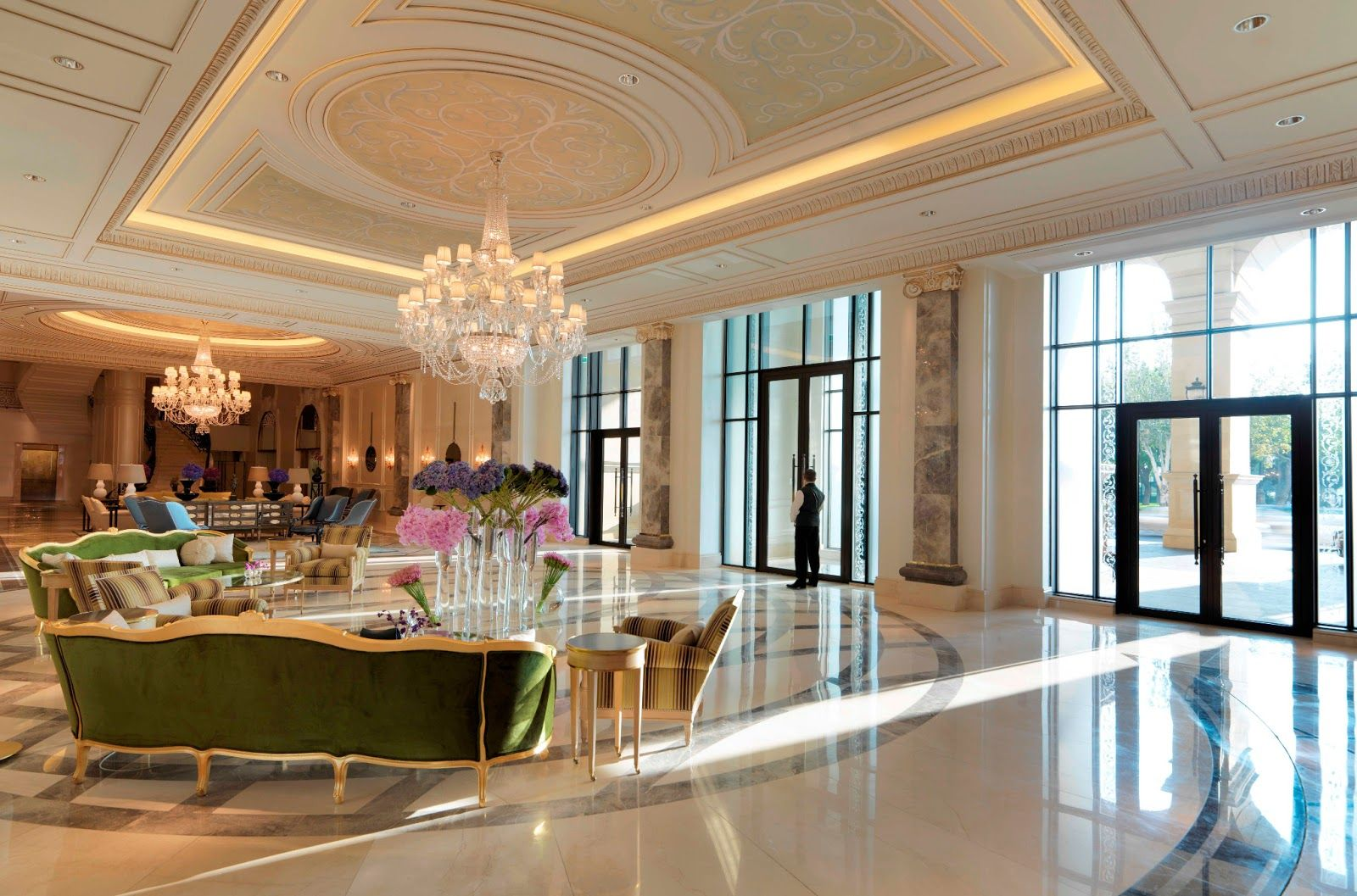 The Style Examiner Four Seasons Hotels Unveil New Property In Baku Hotel Interiors Lobby Interior Design Hotel