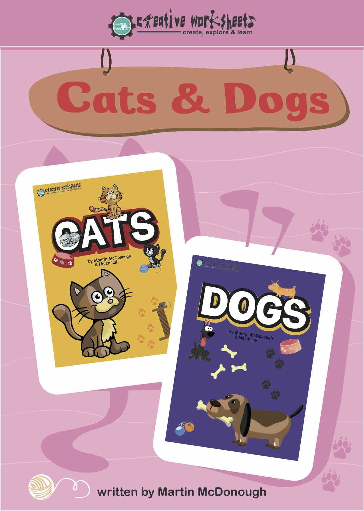 Cats Amp Dogs Set We Think These Educational Worksheets Are