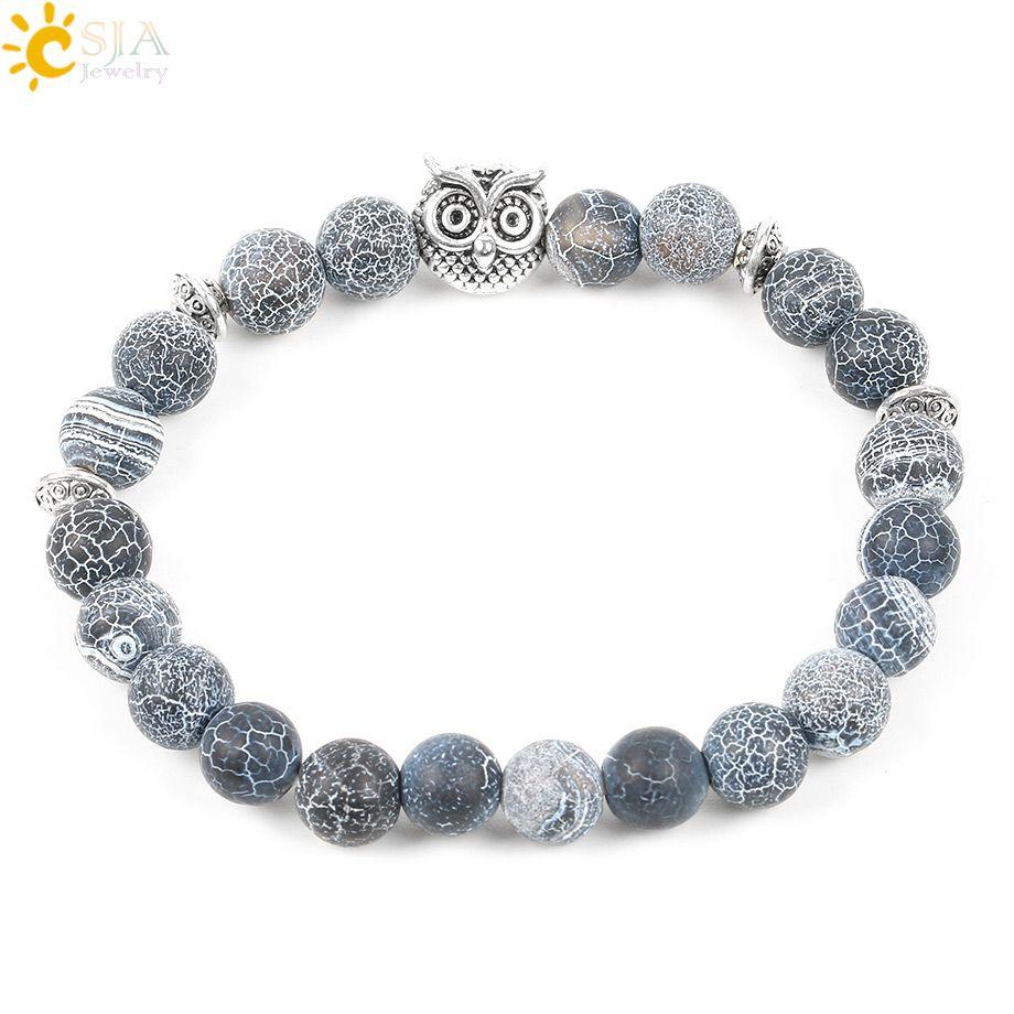 Natural stone weathering onyx men bracelet rosary mala buddha beads