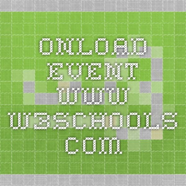 Onload Event Www W3schools Com With Images Javascript