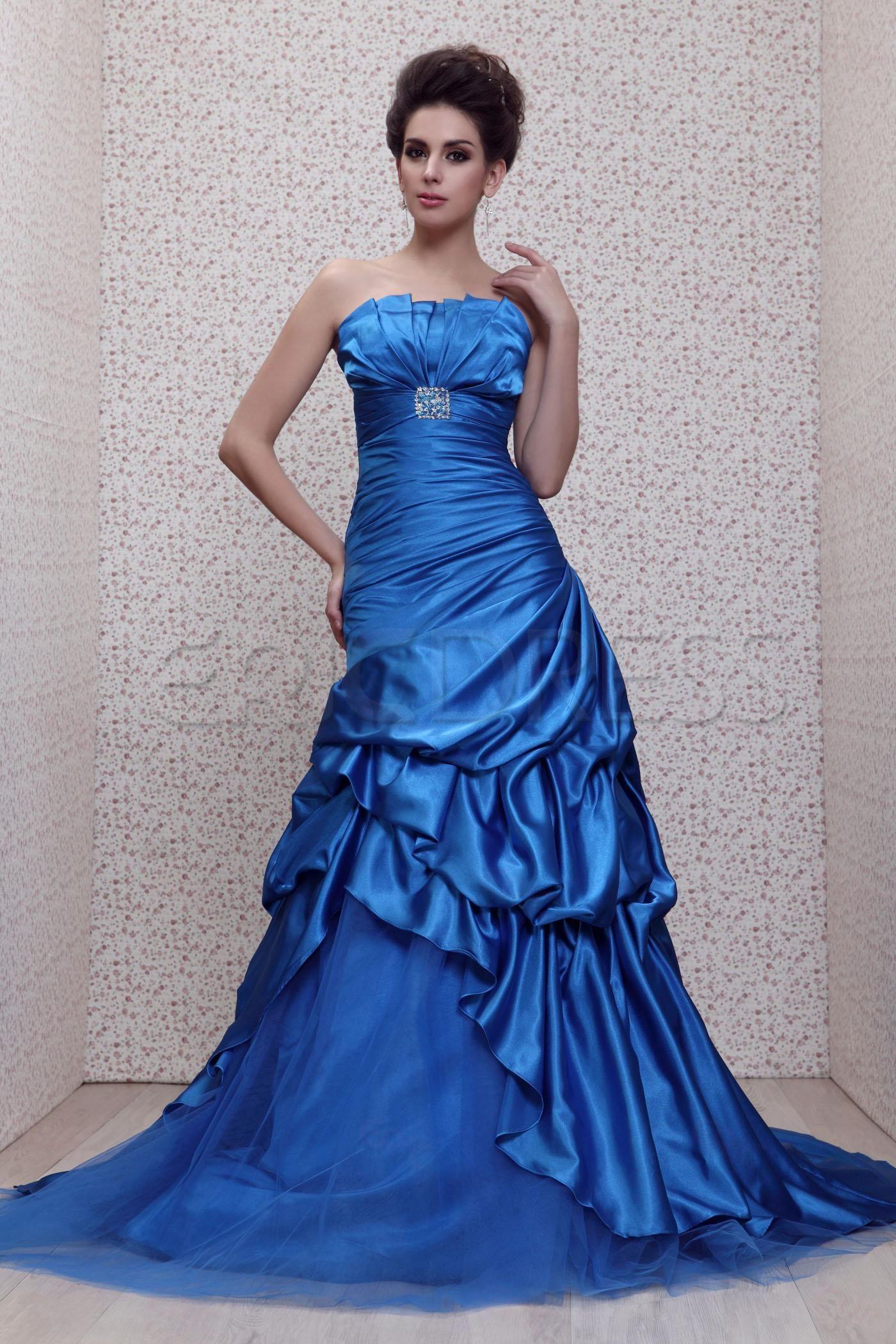 Mermaidtrumpet court train strapless talineus eveningprom dress
