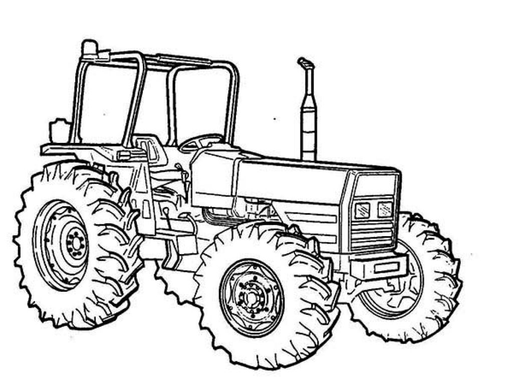 Toddler coloring pages of tractors - John Deere Tractor Coloring Pages