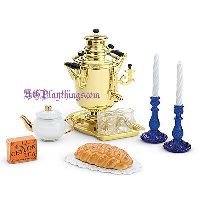 American Girl Doll Rebecca/'s Tea Time Traditions Treats Candlesticks Set NEW!!