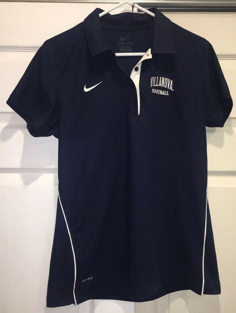 f78220db5 Details about Villanova Wildcats Football Nike Dri-Fit Polo Shirt L ...