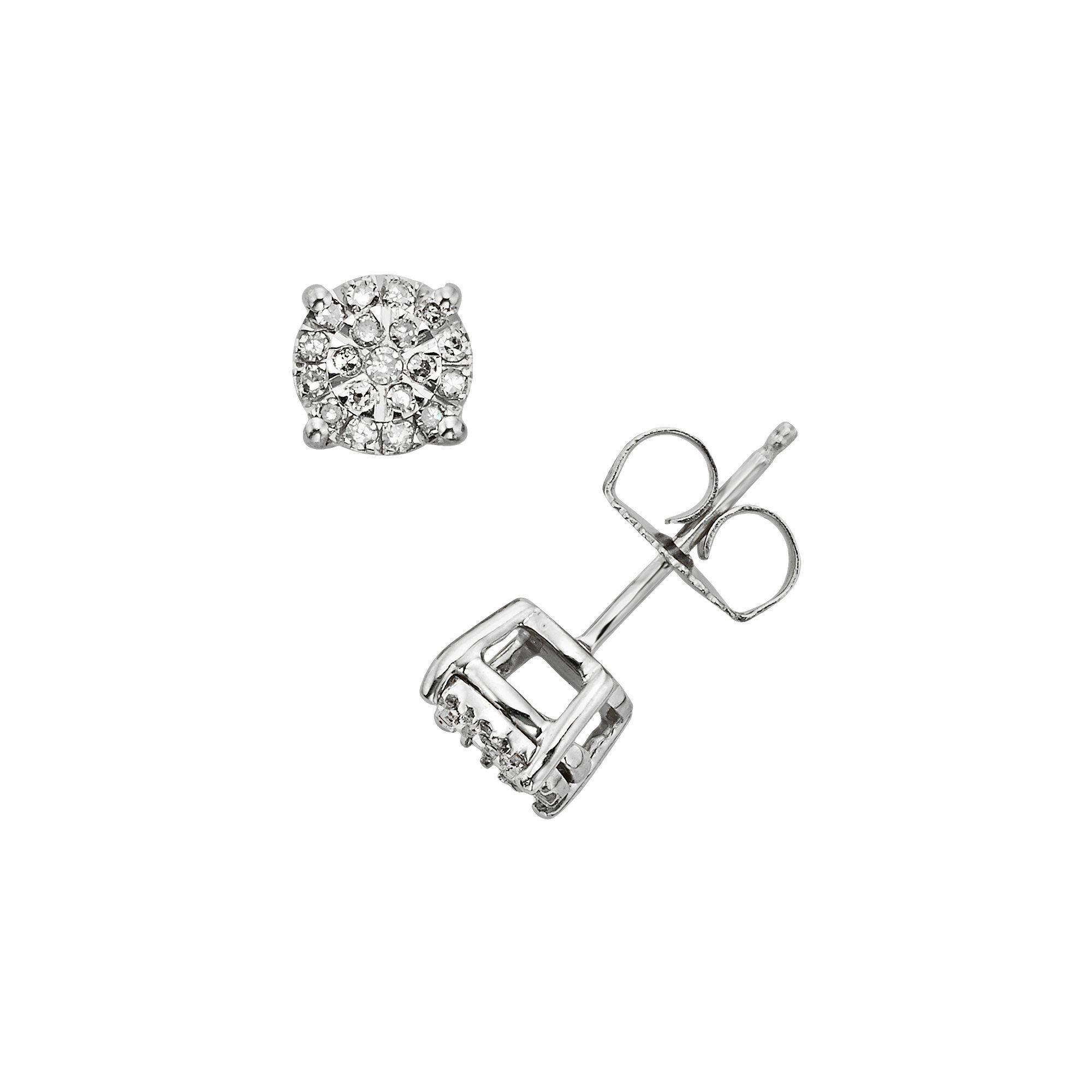 Diamond Brilliance Sterling Silver 1 4 Ct T W Stud Earrings Women S