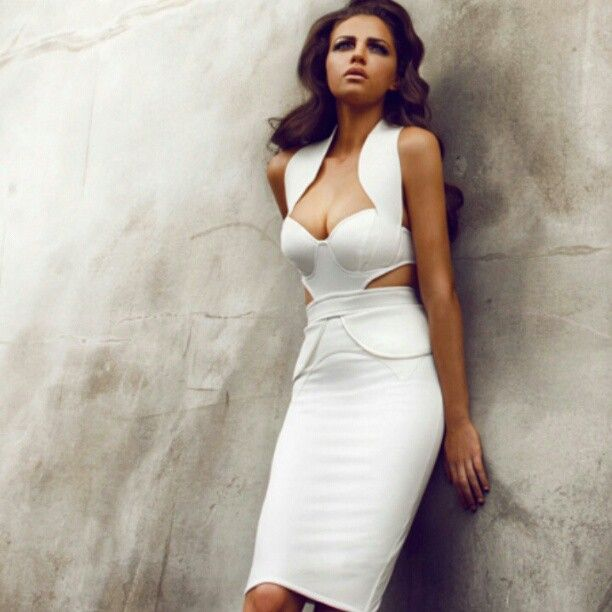 hot white bandage dress!!!
