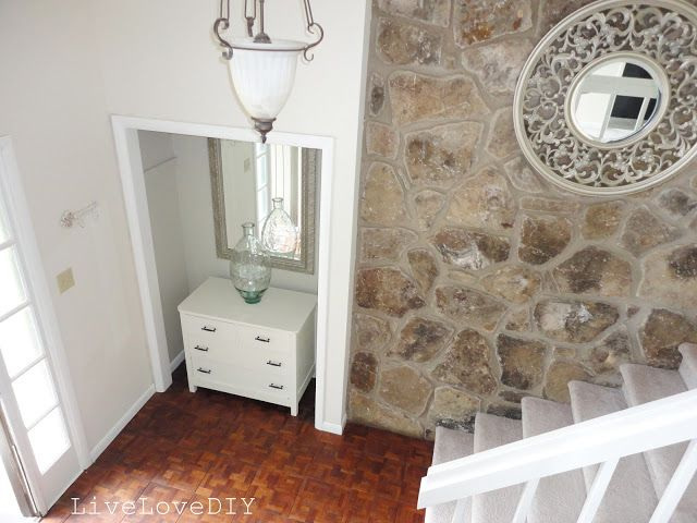 Front Foyer Closet Doors : Remove doors on entryway closet to create a nook! home