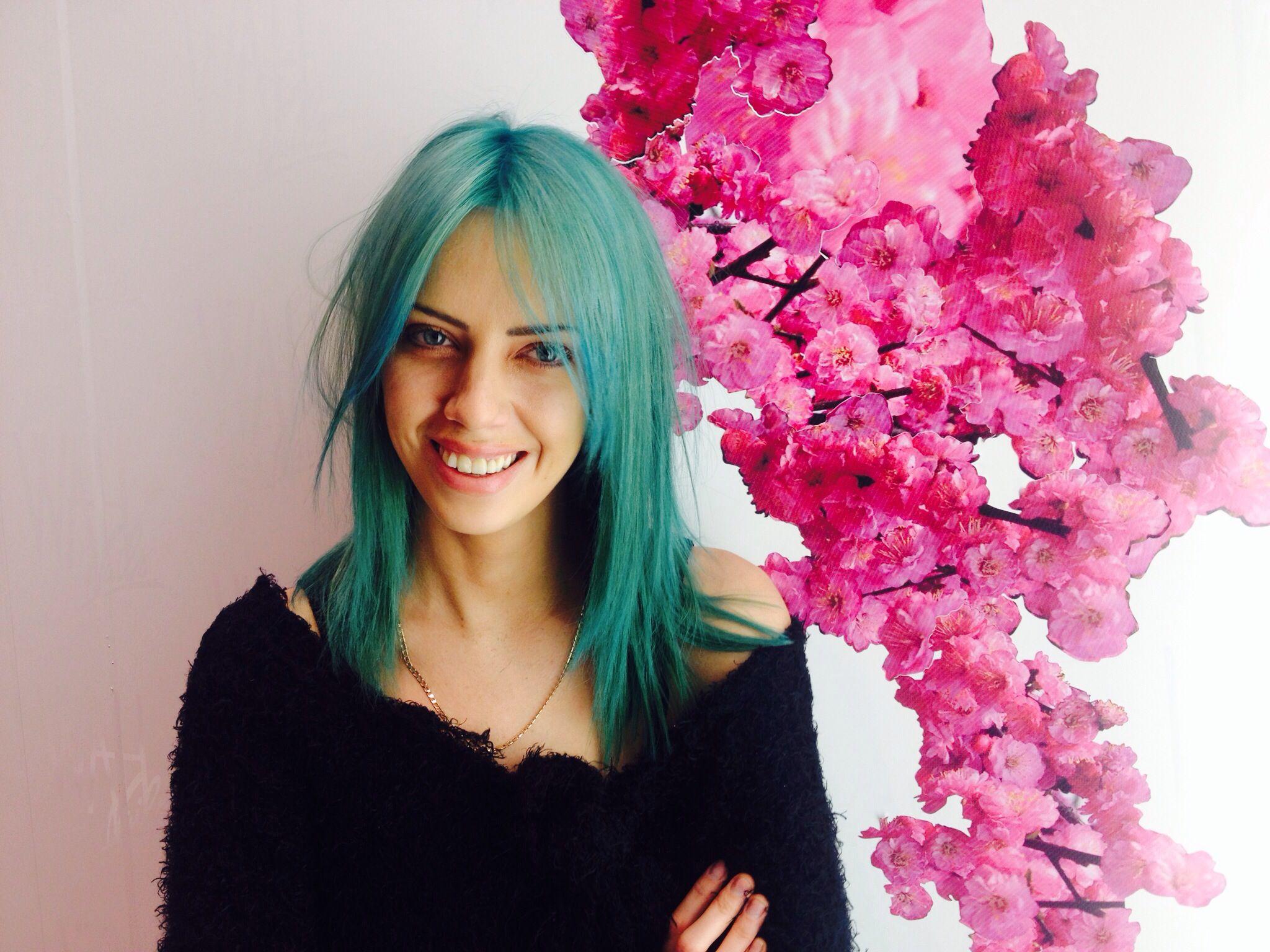 dark green hair turquoise without bleach hair by loren miles for bleach london dark green hair