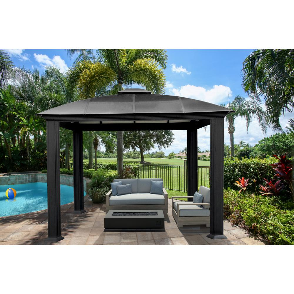 Paragon Outdoor Paragon Outdoor 12 Ft X 12 Ft Aluminum Gazebo Gz3d The Home Depot Aluminum Gazebo Patio Gazebo Gazebo