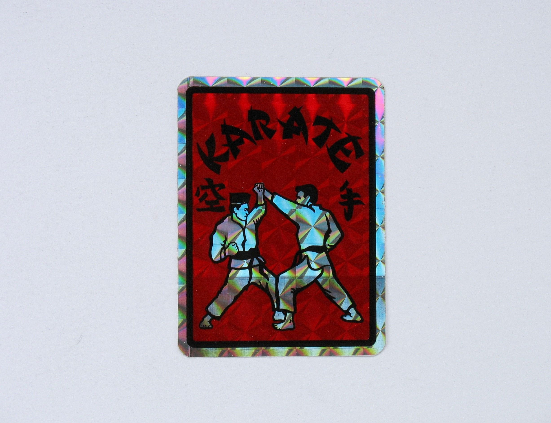 Vintage Karate Prism Sticker Vending Decal Metallic Martial Etsy Sticker Collection Ninja Red Vintage [ 1884 x 2454 Pixel ]