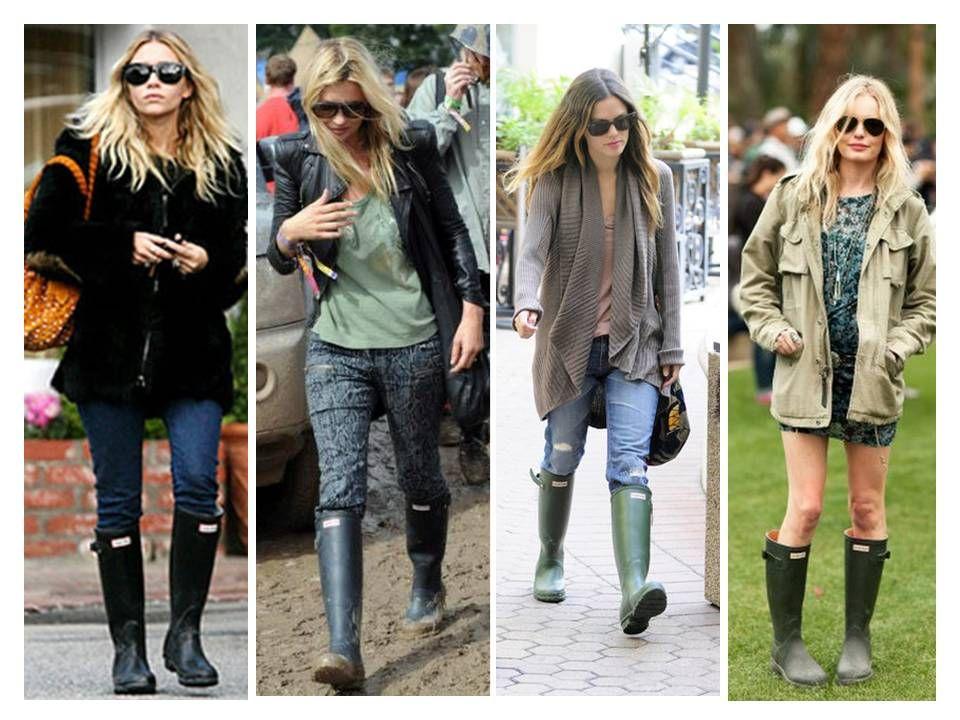 「Hunter rain boots celebrity」の画像検索結果