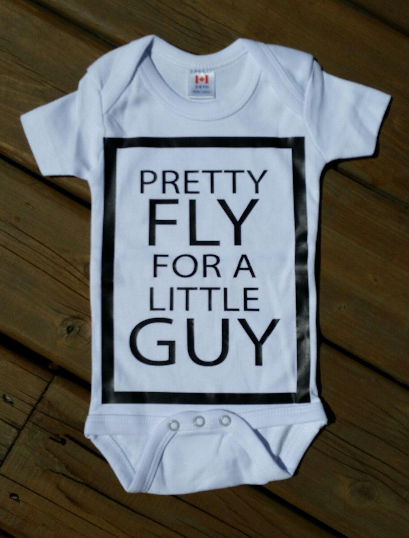 32b089335ac6 Pretty Fly For A Little Guy - Newborn Baby Boy Onesie Bodysuit ...