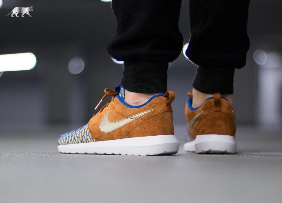 Nike Roshe NM Flyknit PRM (Game Royal Gold)