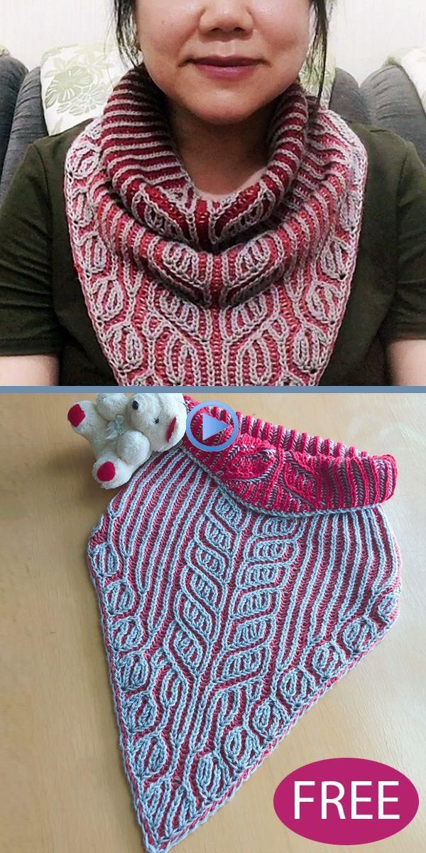 Free Knitting Pattern for Triangle Brioche Cowl # ...