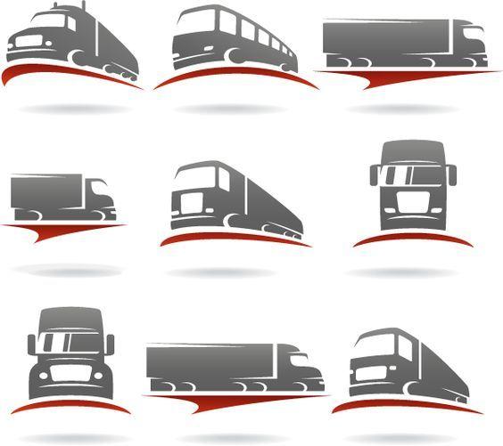 Logos De Transporte Vector Logos De Transportes Camiones De Transporte Transporte