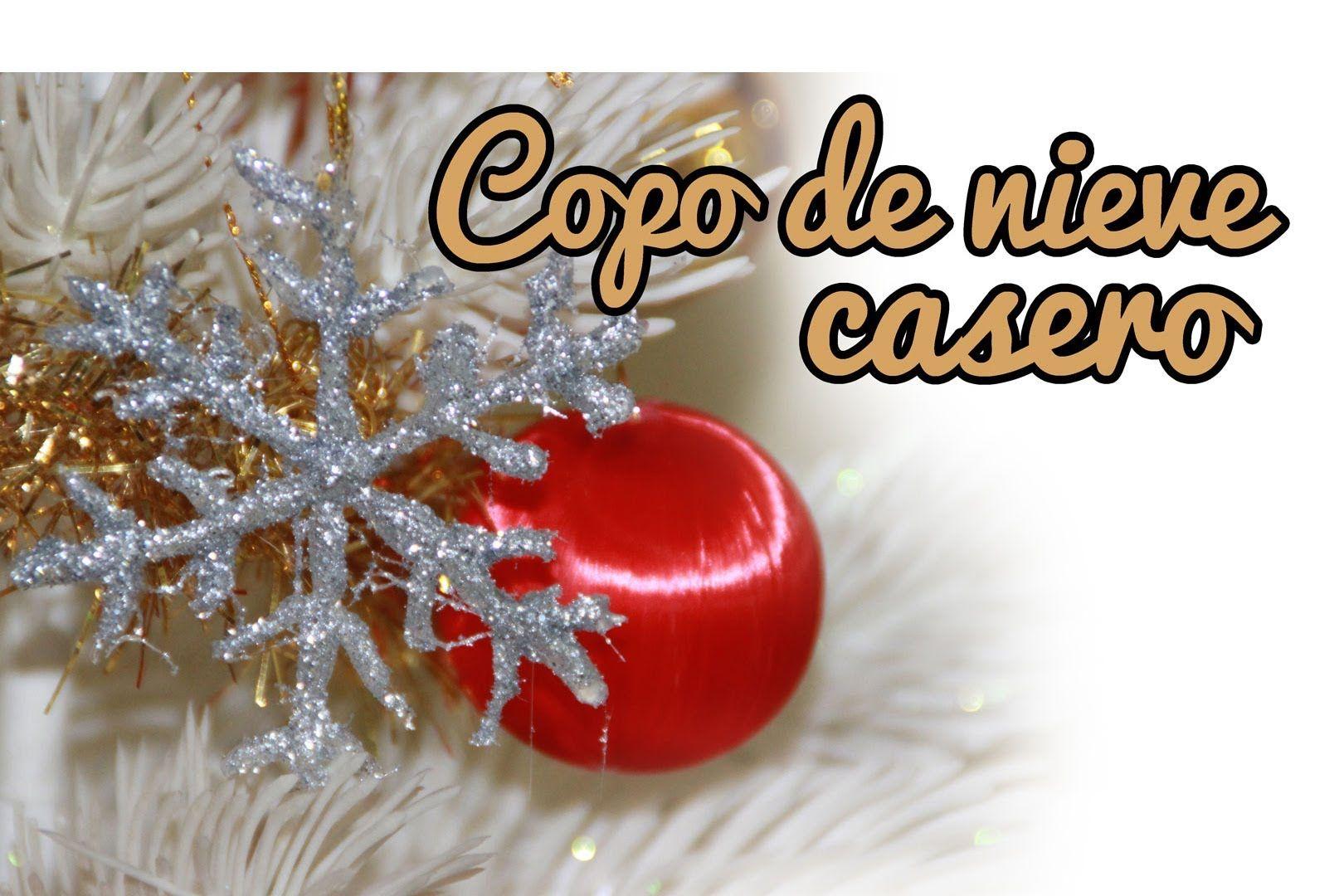 Copo de nieve casero adornos navideos Manualidades de navidad
