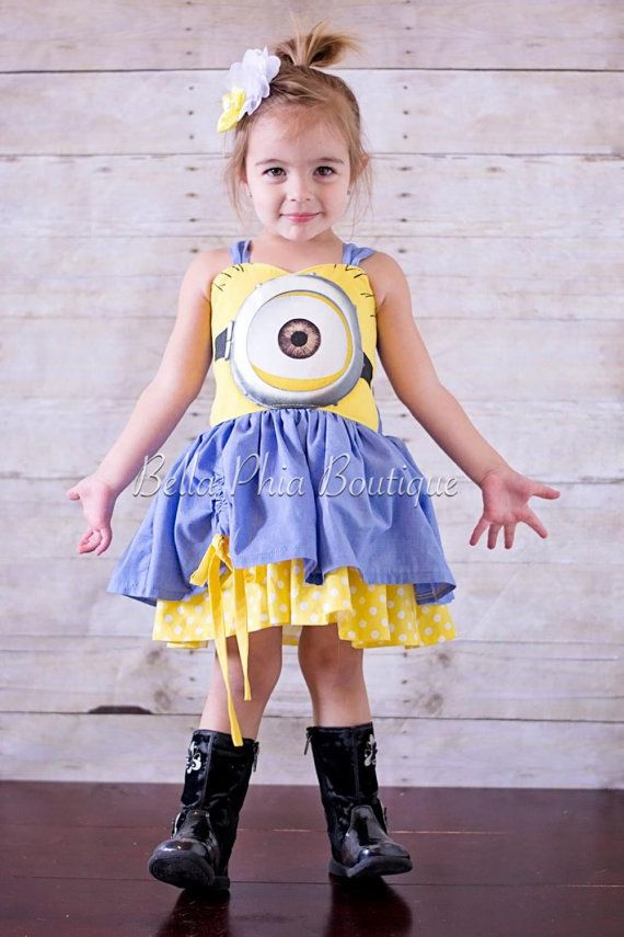 Hey, I found this really awesome Etsy listing at https://www.etsy.com/listing/227739960/girls-minion-dress
