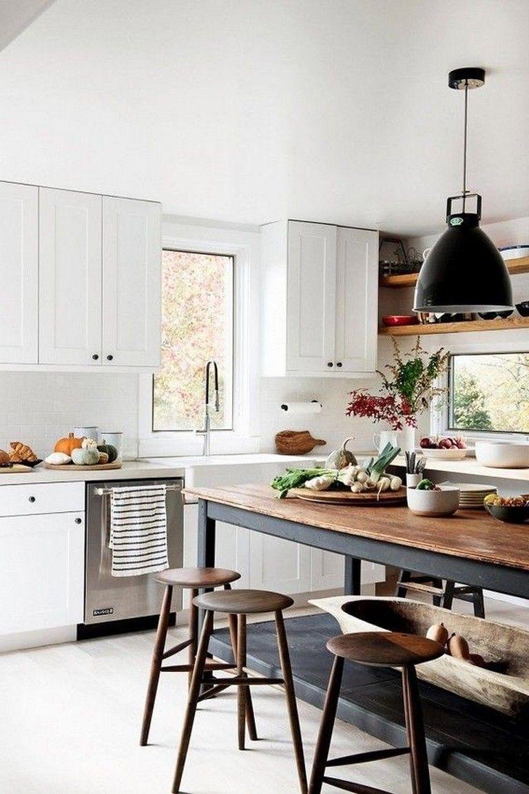 25 Extraordinary And Elegant Scandinavian Farmhouse In 2020 Rustic Kitchen Kitchen Remodel Layout Scandinavian Kitchen Design