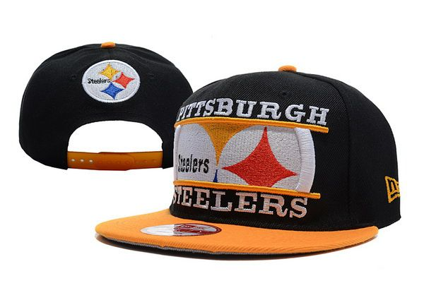 Pittsburgh Steelers Snapback Hat black yellow  b9ad841ba7f3
