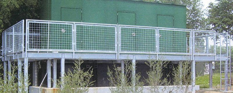 wire mesh railing panels - Google Search | Pearl Exterior Spaces ...