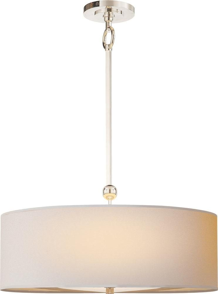 Reed Pendant - transitional - Pendant Lighting - Circa Lighting 22 x high  sc 1 st  Pinterest & Two Light Natural Paper Shade Polished Nickel (may Patina Slightly ... azcodes.com