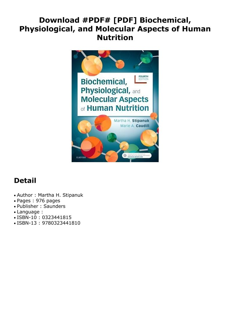 biochemical physiological and molecular aspects of human nutrition pdf download