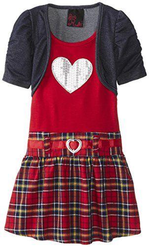Girls Rule Little Girls' Plaid Skirt Dress with Denim Shrug, Red, 2T Girls Rule http://www.amazon.com/dp/B00K4VIW64/ref=cm_sw_r_pi_dp_dSziub1660CXR