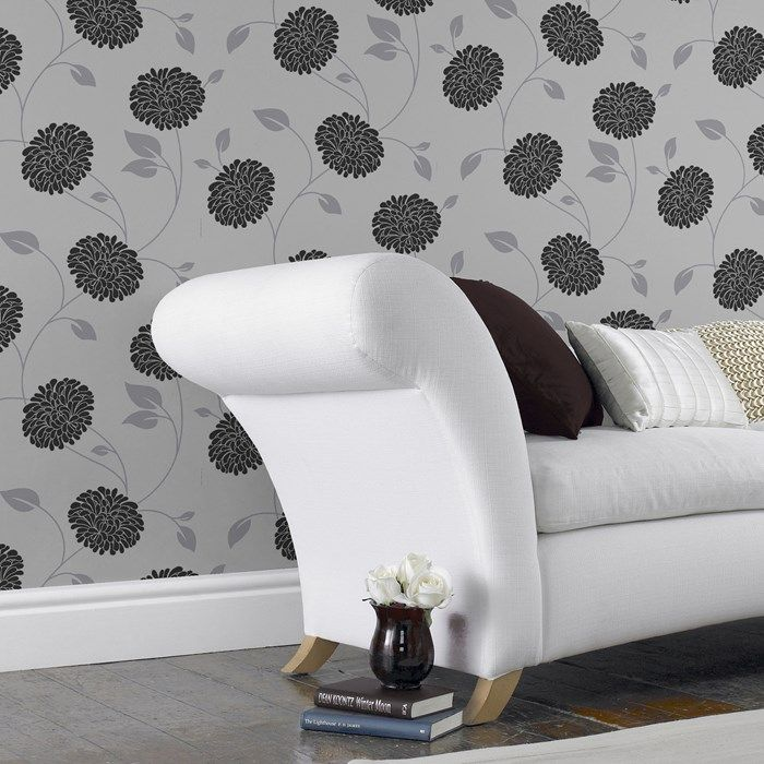 Wallpaper Bronte Grey Wallpaper by Graham