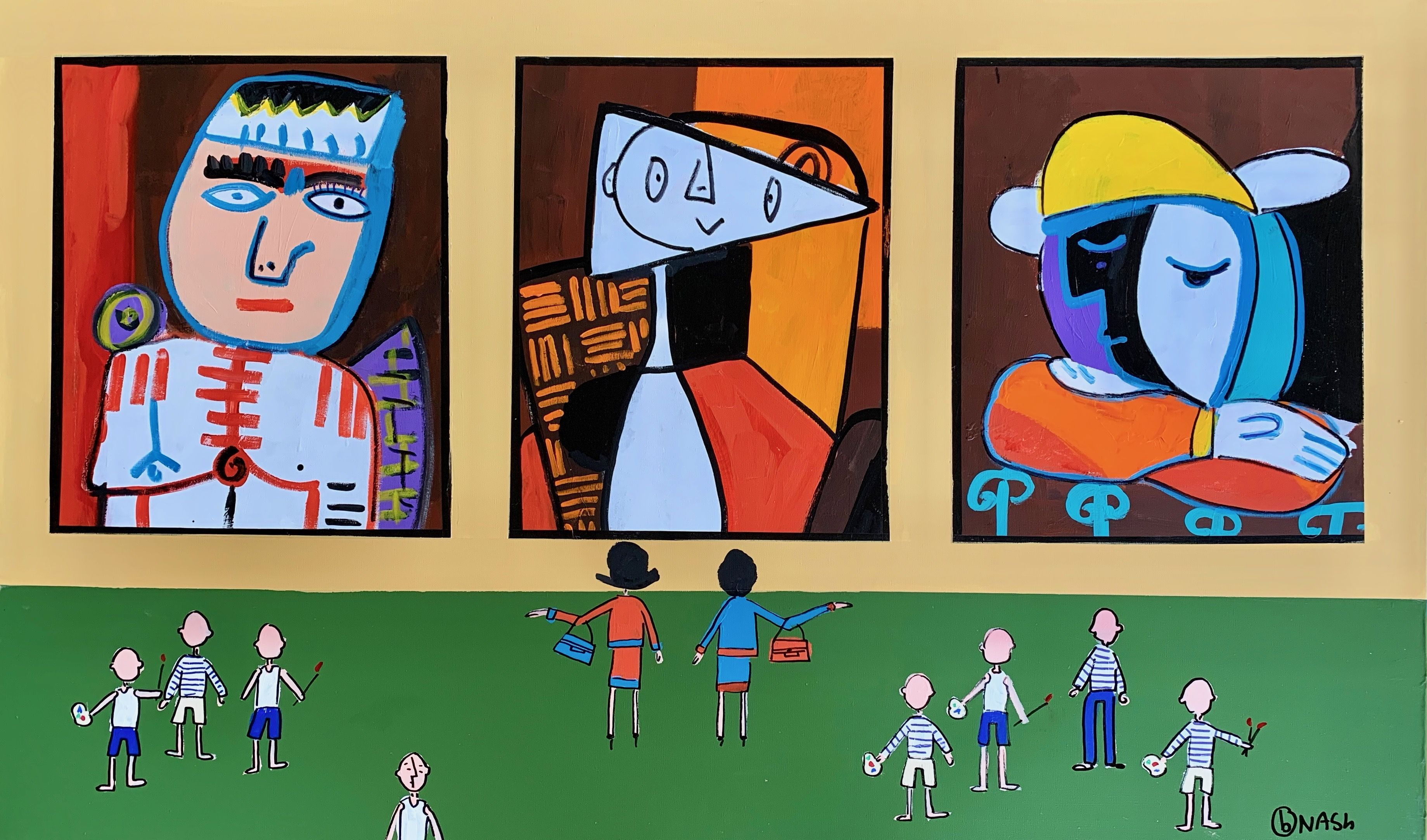 Large, Original, PopArt, Painting, Acrylic on Canvas