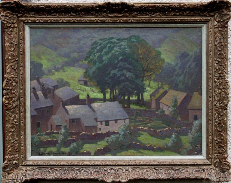 John Haggis Landscape Painting Lake District British Art 30s Post Landscape Oil Circa 1930 Impr Oil Painting Landscape Post Impressionists Summer Landscape