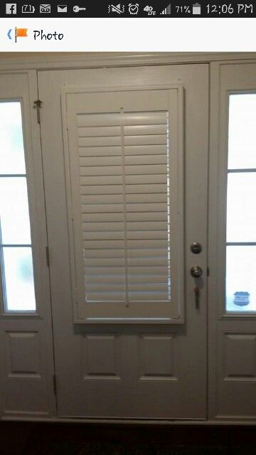 3 1/2 louver Plantation shutter on a front door