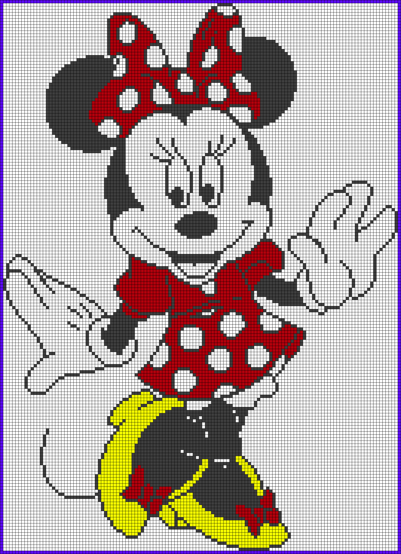 Minnie Mouse Perler Bead Pattern | Disney puntocroce /cross stitch ...