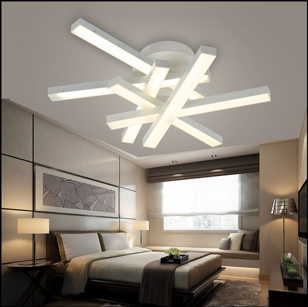 Modern Led Chandelier Lamps White Light Warm Living Room Dining