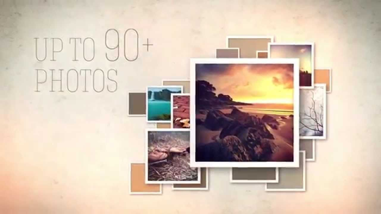 Slideshow Video Display Ae Template With Retro Styled Photo Frames Photo Frames Photo Retro