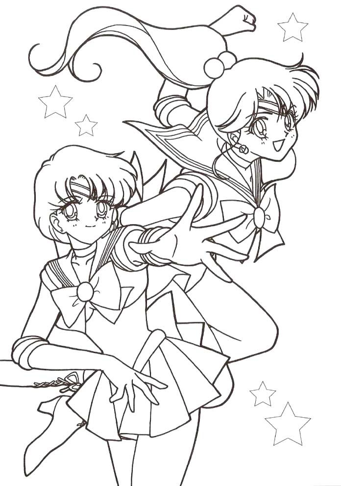 Two Faces Of Sailor Moon Coloring Pages - Sailor Moon Coloring ...