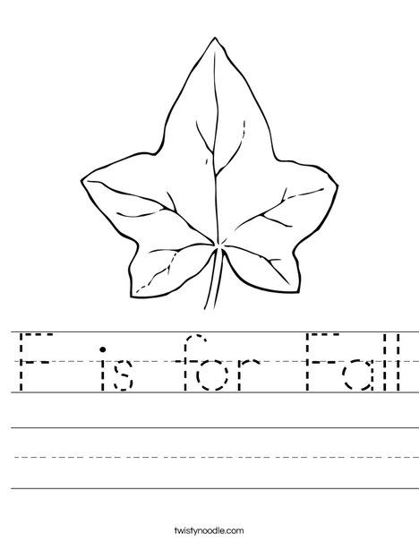 F is for Fall Worksheet - Twisty Noodle