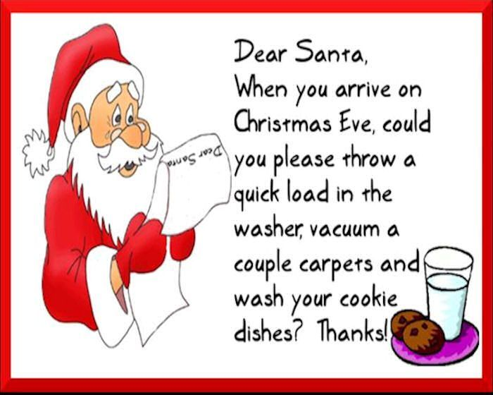 Dear Santa Funny Funny Quotes Humor Christmas Santa Christmas Quotes  Christmas Quote Christmas Humor Maybe He Could Do This All Year Long Lol :)