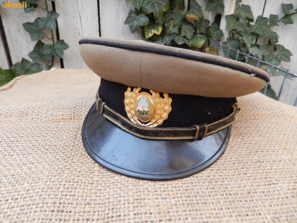 Romanian People s Army armored   artillery   engineering officers  service  uniform visor cap. 0be8ce620ac