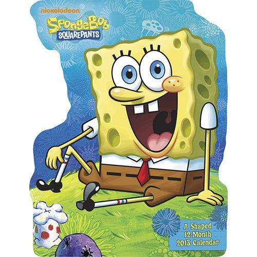 Spongebob Squarepants 2013 Fun Shaped Wall Calendar Shows I